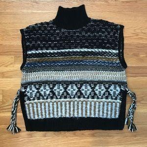 Madewell Sidetie Boho Sweater Vest size S